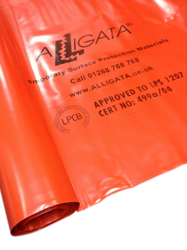 Fire / Flame Retardant Polythene Sheeting Poly Visqueen Tuffreel FR 4m x 25m 1000g (nominal) LPS 1207