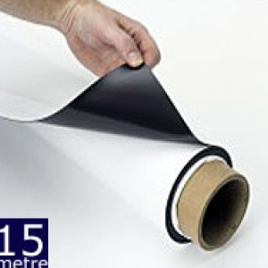 Magnetic Sheet Gloss White 620mm x 0.75mm x 15m