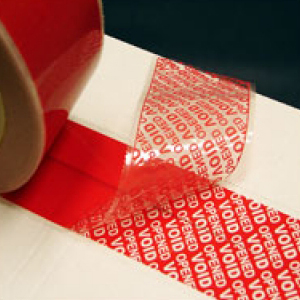 TAMPERSAFE Tamper Proof / Evident Security Parcel Tape Red 50mm x 50m PLAIN
