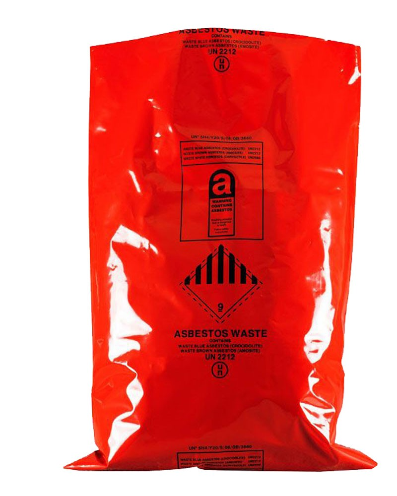"Asbestos Removal Sack / Bag 600MM X 900MM (24"" x 36"") Red (Pack of 50)"