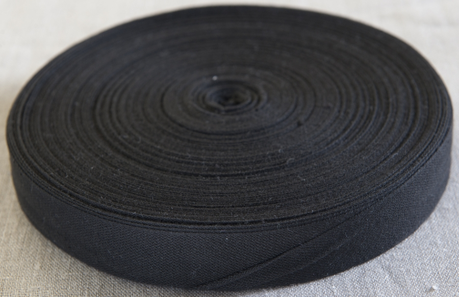 Cotton Tie Tape 25mm x 50m BLACK