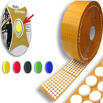 CD / DVD Dots / Discs / Buttons / Holders / Spiders Foam Black 16mm x 4mm (1000 Per Roll)