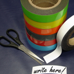 Magnetic Label Tape Green 50mm x 10m