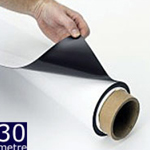 Magnetic Sheet Gloss White 620mm x 0.75mm x 30m