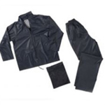 PVC 2 PIECE RAIN SUIT NAVY LARGE