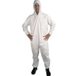 Polypropylene Disposable Coveralls White Small