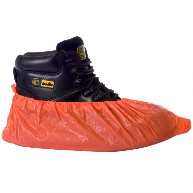 Disposable Polythene Overshoes Red (1000 Pairs)