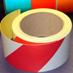Reflective Tape Self Adhesive Red & White 50mm x 10m