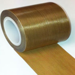 Teflon PTFE Glass Coated Cloth High Temperature Non Stick Tape 25mm x 0.13mm x 10m